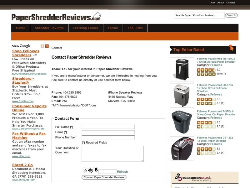 Websites to type papers review