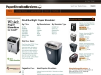 Paper Shredder Reviews now Joomla 1.5